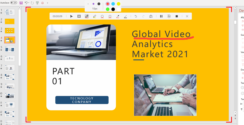 recording video analytics