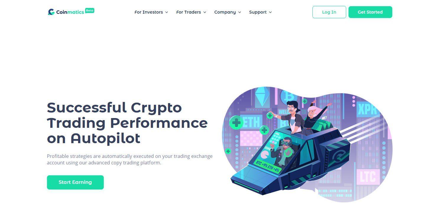 Coinmatics is a social crypto copy trading