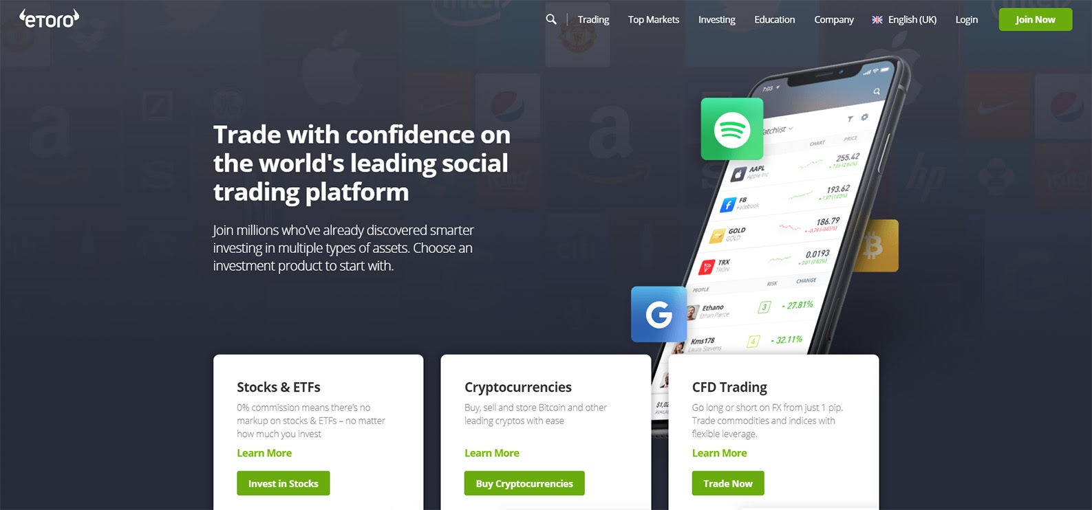 eToro is a multi-asset social trading platform