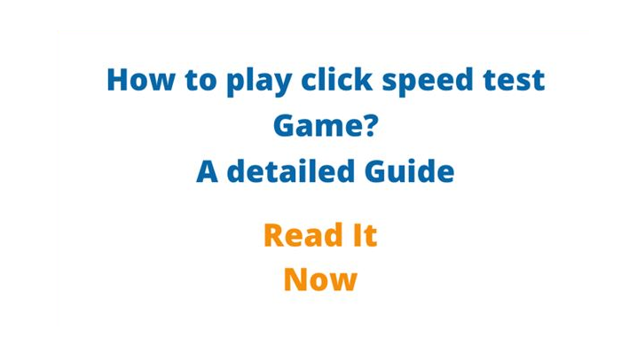 Check Click Speed Test