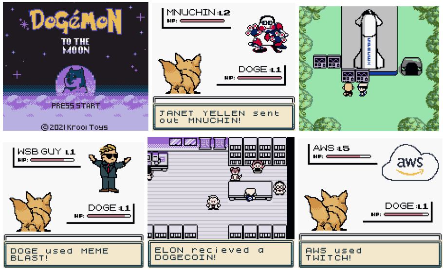 "Playable Dogémon ""NFT"" Game Boy Game"