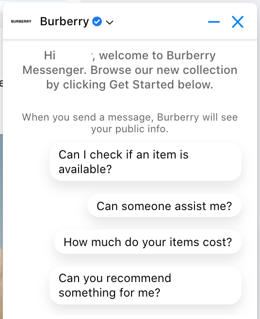 AI ecommerce chatbot
