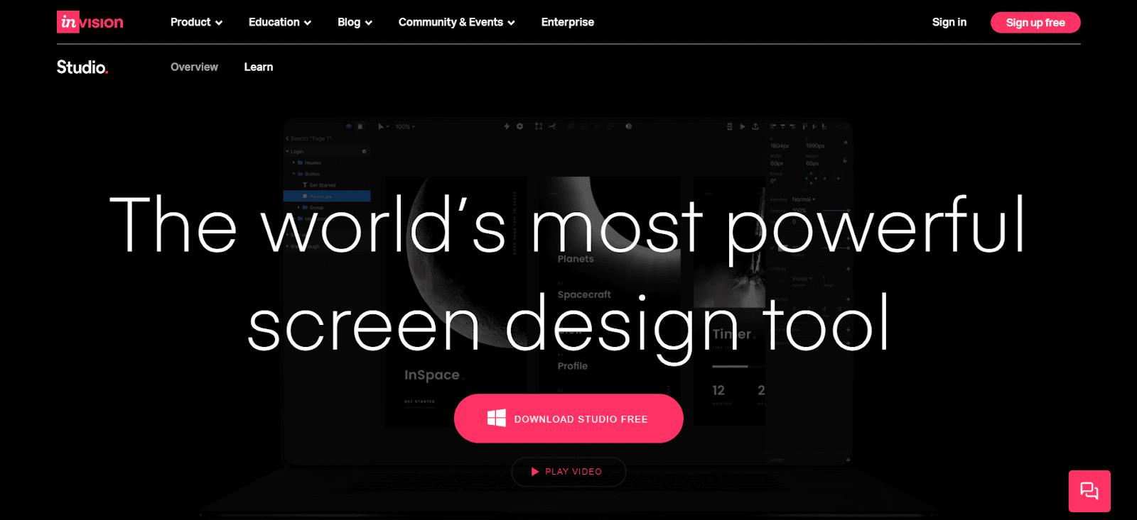 popular design prototyping and collaboration platform