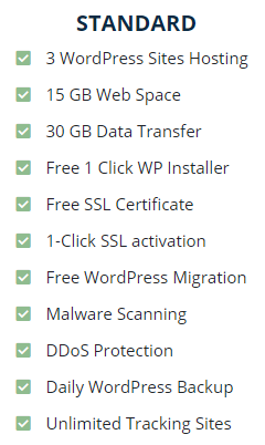 WordPress Standard Hosting