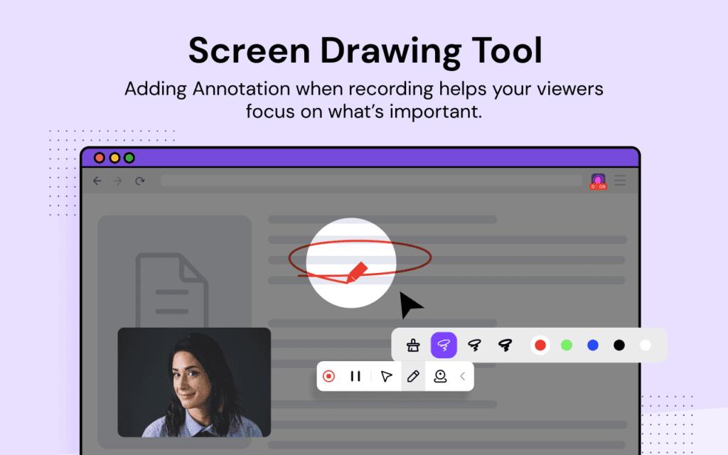 Screen drawing