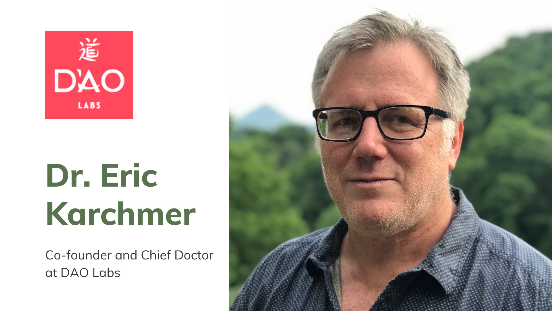 Dr. Eric Karchmer, Co-founder and Chief Doctor at DAO Labs.
