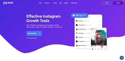 Gramto Instagram automation tool