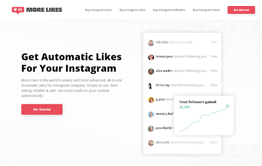 Morelikes Instagram automation tool