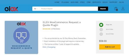 Request a Quote Plugin for ecommerce