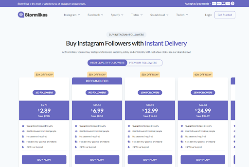 Stormlikes easy Instagram automation tool