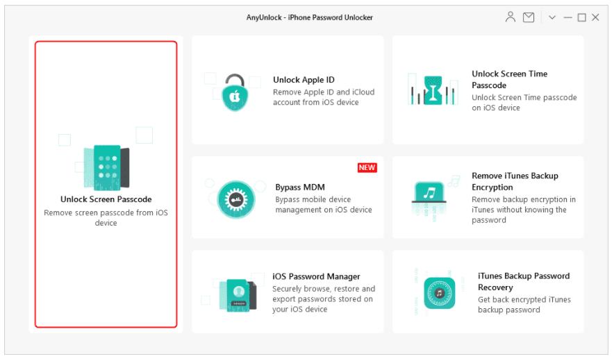 Unlock iPhone Screen