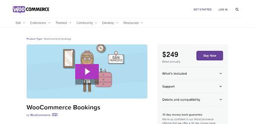 call WooCommerce Bookings.