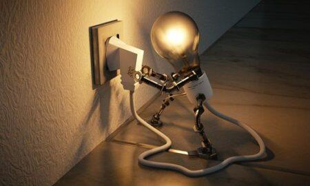 light bulb plugged into wall