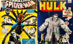 Blockchain auction to feature Marvel cover adaptations by Rob Prior, with Stan Lee as characters