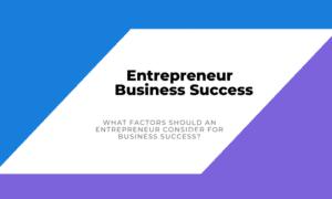Entrepreneur Business Success