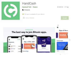 handcash bsv wallet on google play store